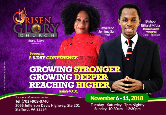 Risen Glory 6 Day Conference